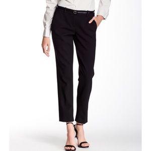Theory Testra 2 Wool Slim Mid Rise Pants Career